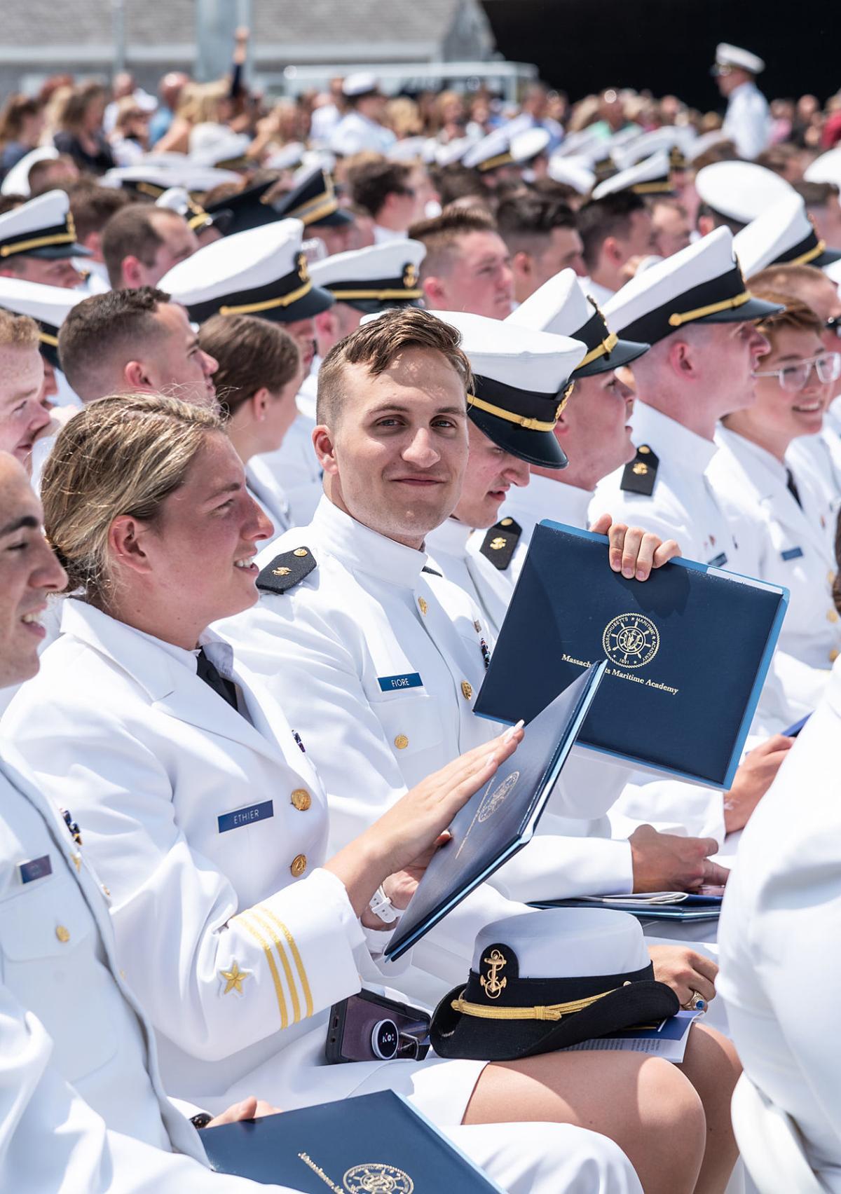 Massachusetts Maritime Graduates Cast Off To New Horizons Bourne News Capenews Net