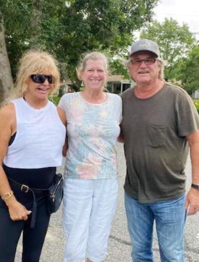 Goldie Hawn and Kurt Russell in Falmouth