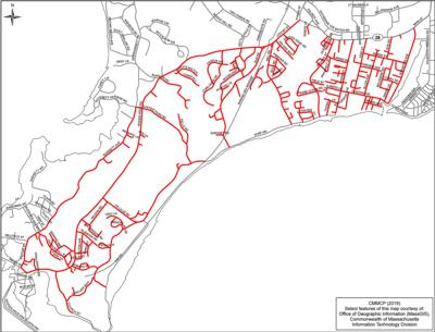 Falmouth EEE truck spraying map