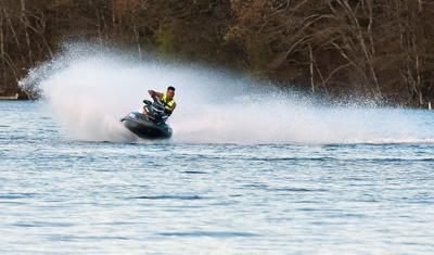 Kicking Up Spray At Wakeby Pond (copy)