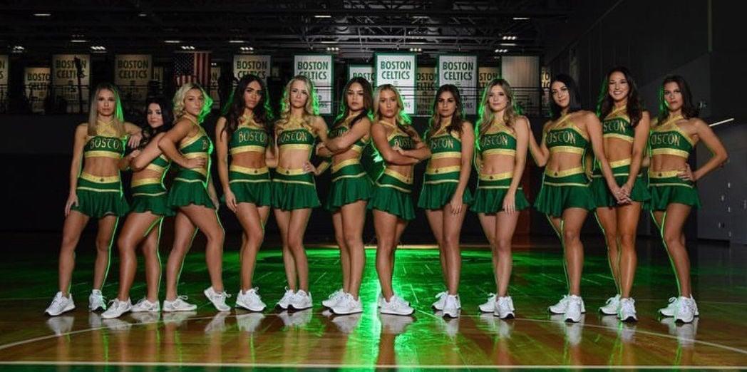 Dimond With Celtics Cheer Squad