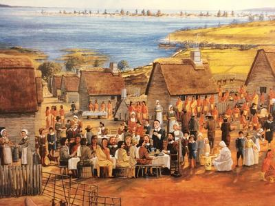 'The First Thanksgiving–1621'