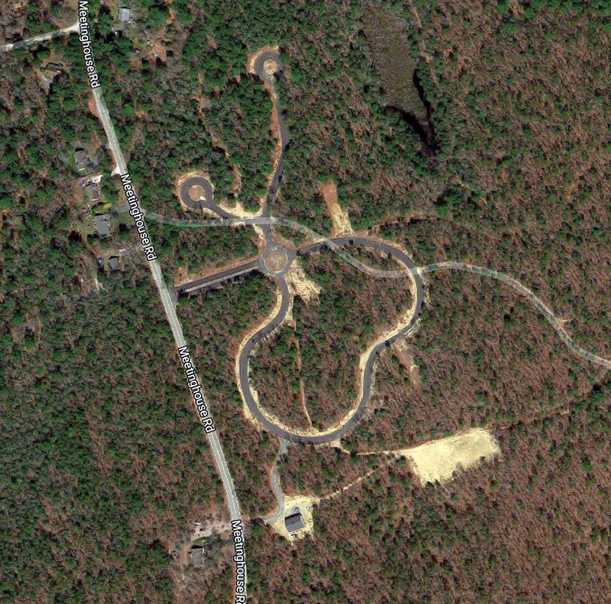 Mashpee Wampanoag Village - Aerial View