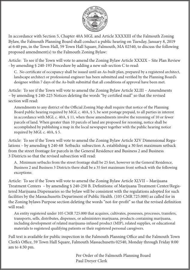 Legal Notices December 21 2018 Legal Notices Capenewsnet