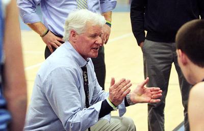 Sandwich High School boys' basketball Coach Dennis Green