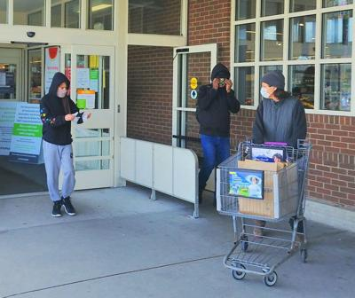 Masked Stop & Shop Customers
