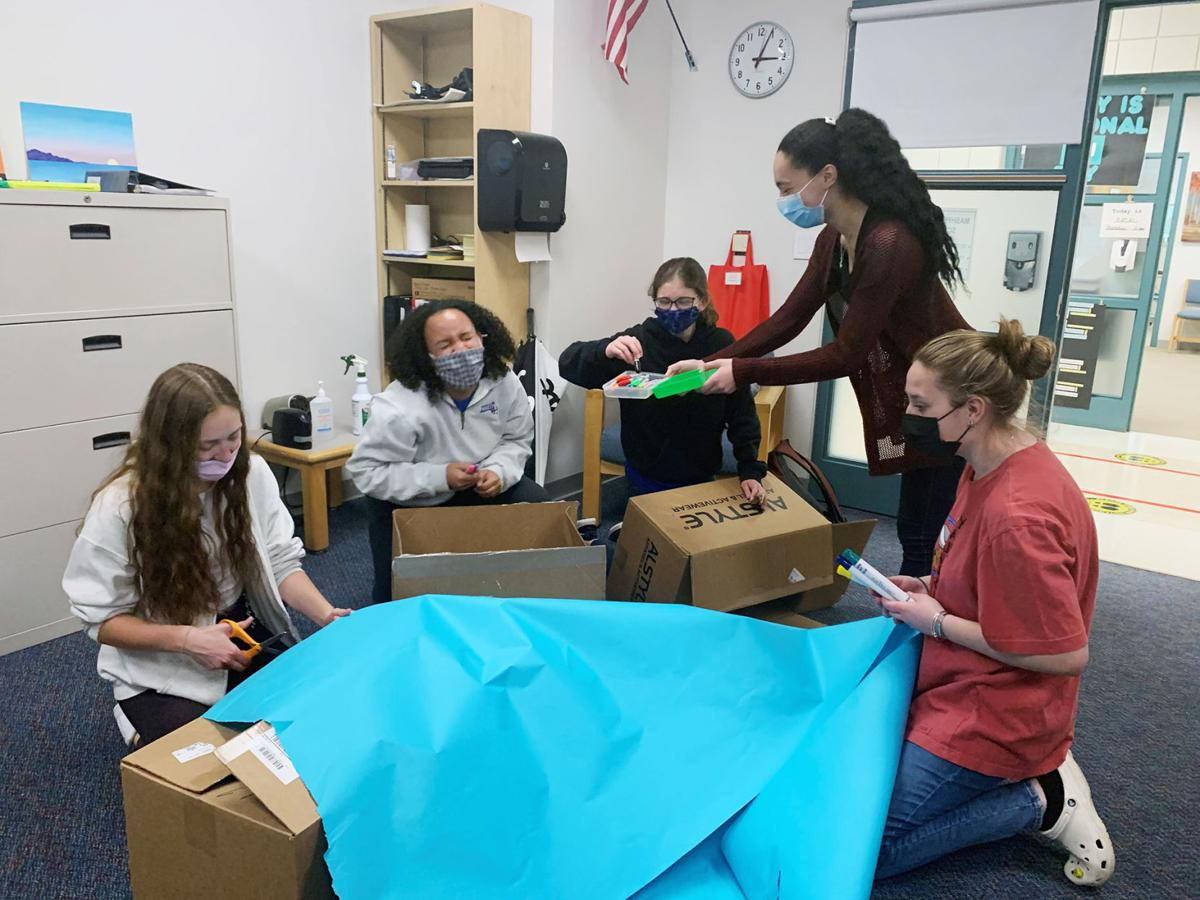 Mashpee Project 351 Creating Donation Boxes