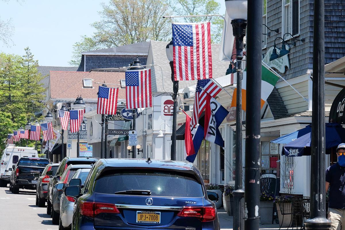 American Flags On Main Street