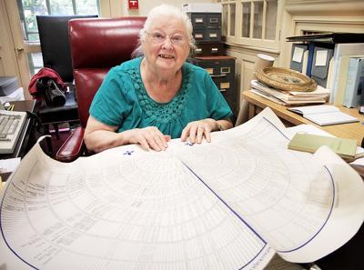 Barbara Gill At Her Desk
