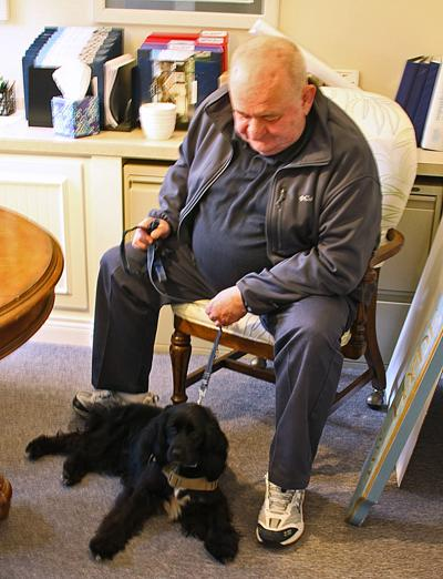 Chuck Warry & Service Dog Sully