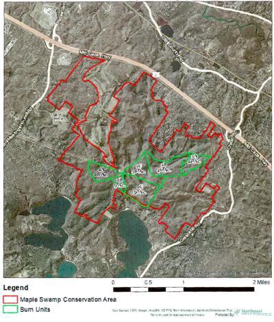 Maple Swamp Burn Plan Map