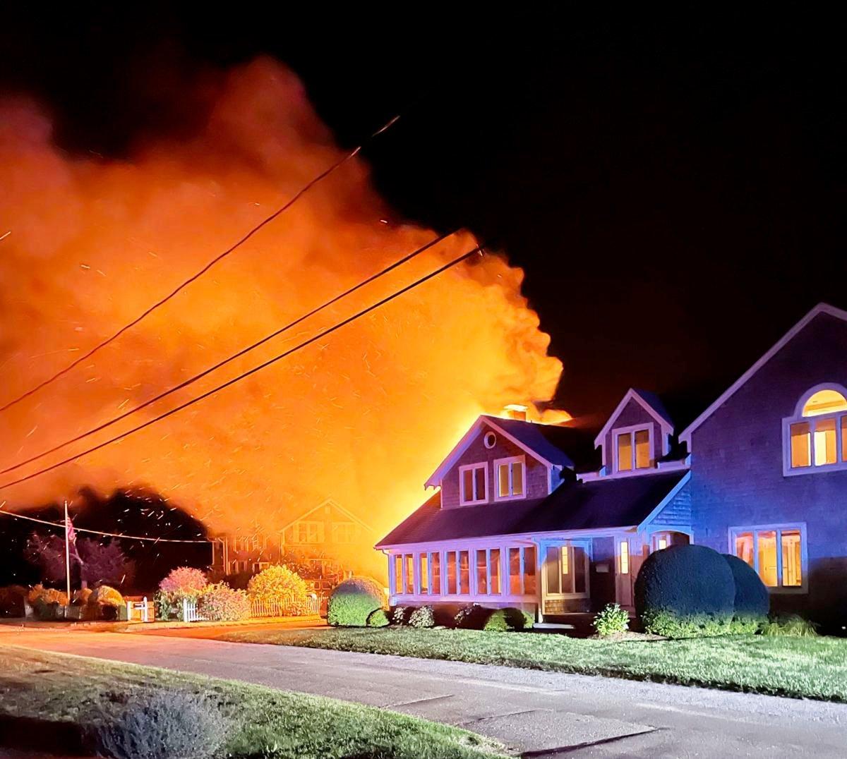 Massasoit House Fire, August 17, 2021