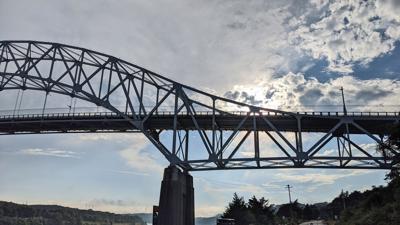 Sun Setting On Sagamore Bridge
