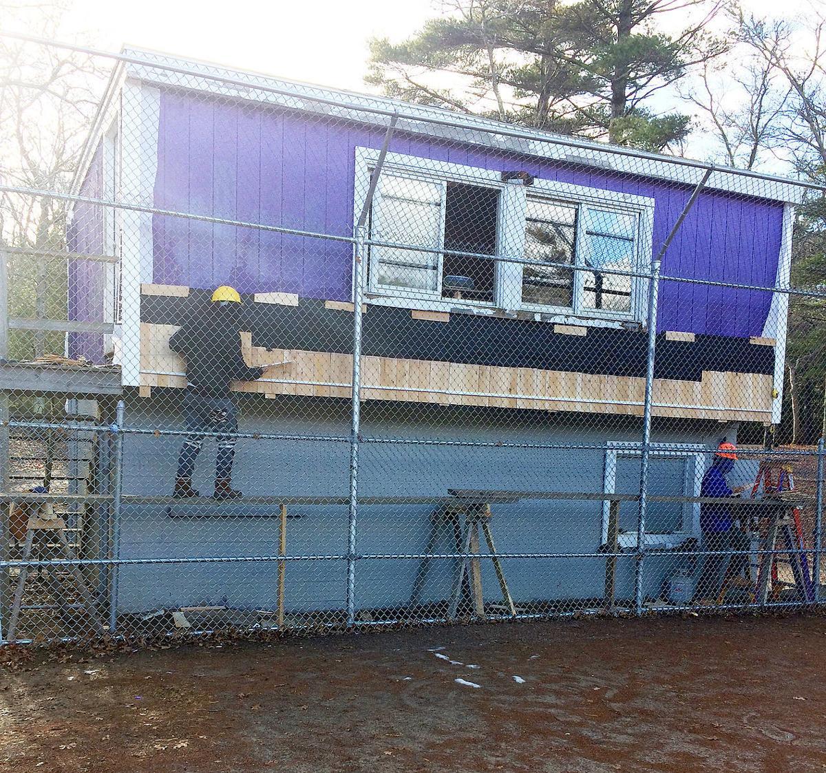 UCT Students Finishing Baseball Building Rehab Project