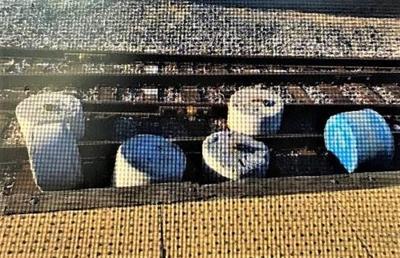 Concrete Blocks On Train Tracks