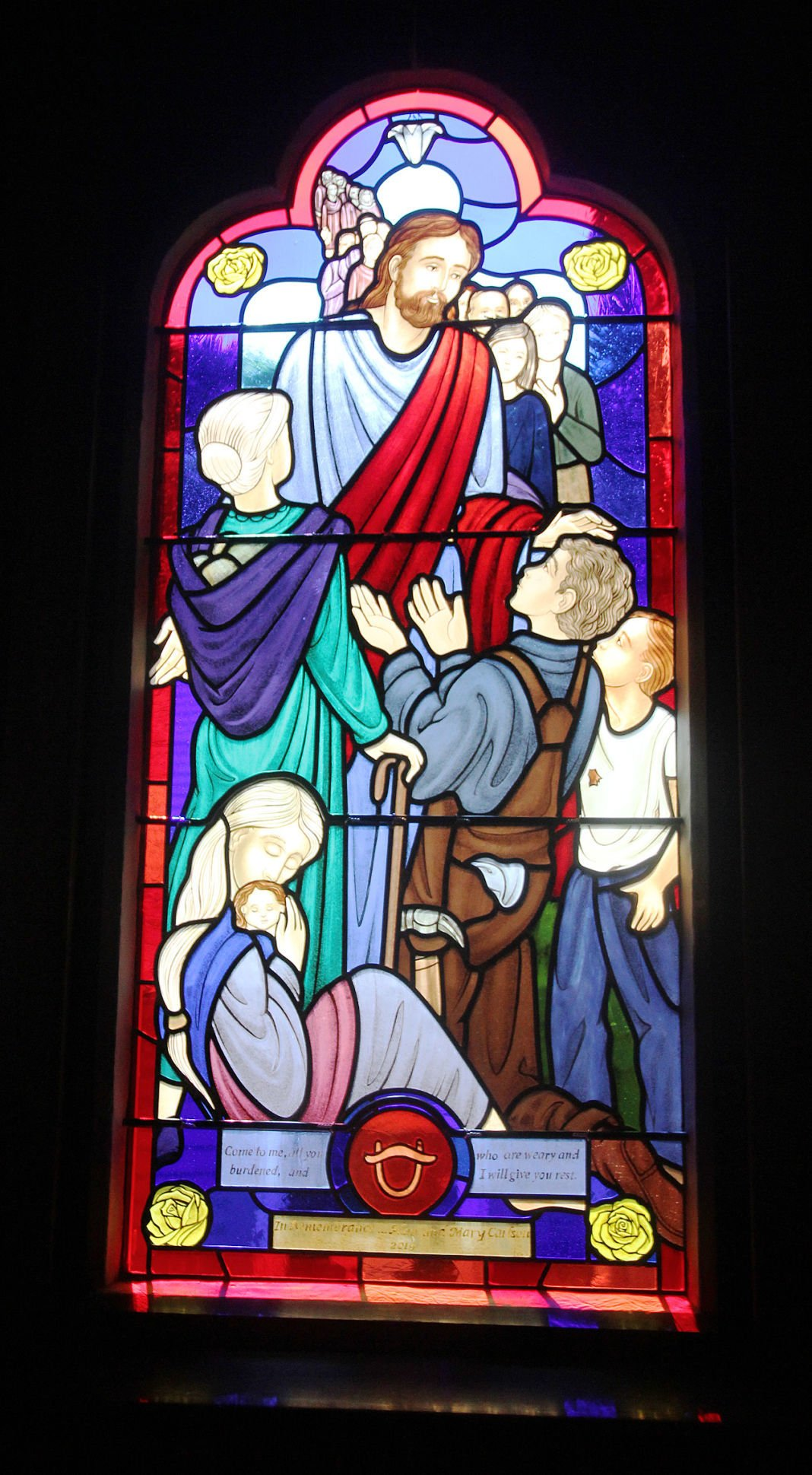 St. John's Church Celebrates New Cross And New Stained Glass Window