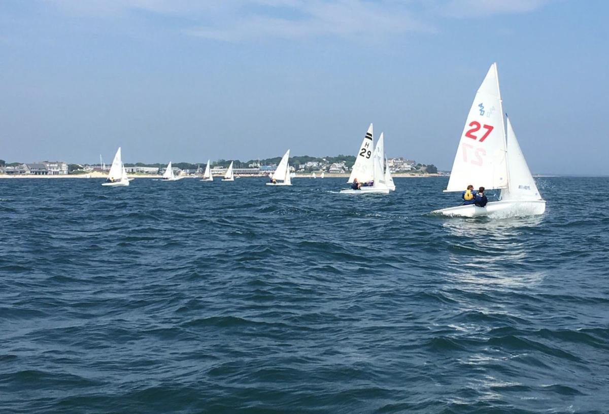 Falmouth Harbor Sailing School 420 Racers - July 2018