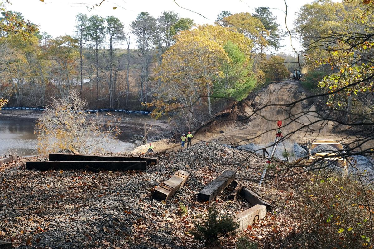 Train Track Collapse At Lily Pond in East Sandwich