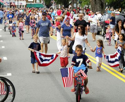 The Falmouth 2015 Fourth Of July Main St. Bike Parade