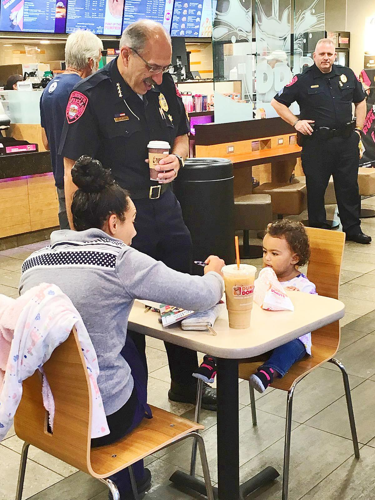 Falmouth Police Hold Meet And Greet At Dunkin Donuts Falmouth