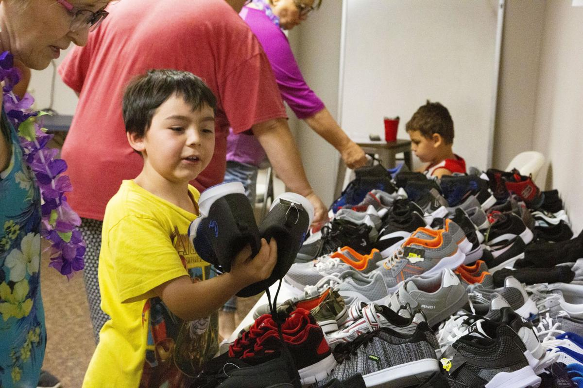 We Love Kids party gives away over 350 pairs of shoes