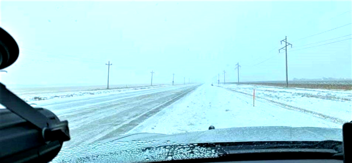 snowy highway 14