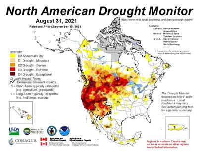North American Drought Monitor map