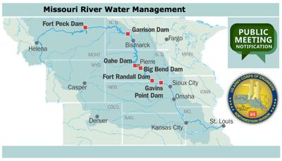 Us Army Corps Updates On Missouri Rivers Spring Rising Online And - Us-map-missouri-river