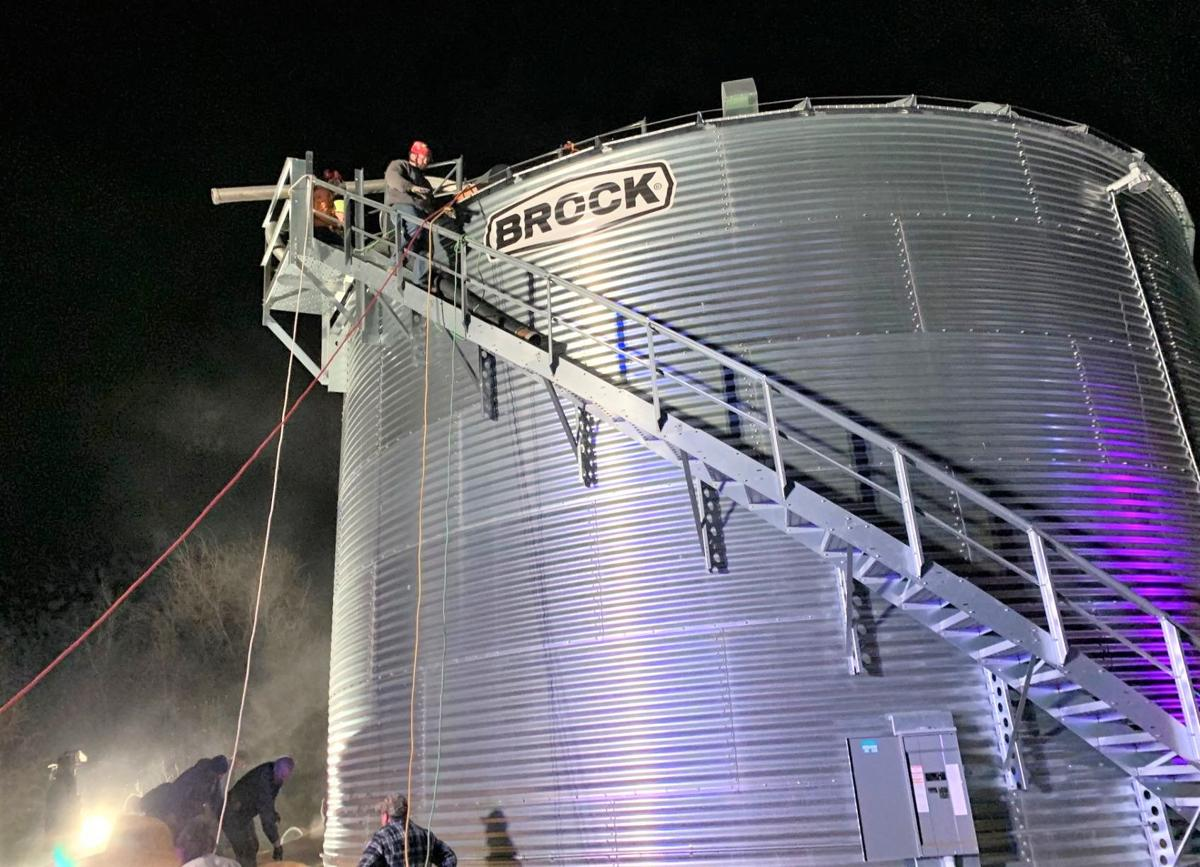 grain bin rescue up top