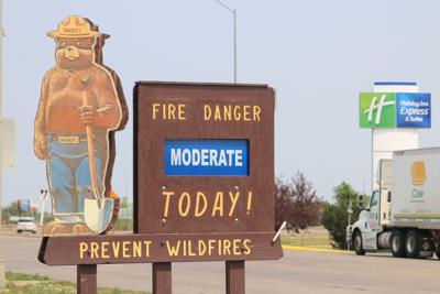 Fort Pierre Fire Danger sign