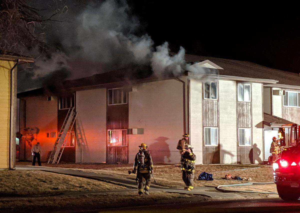Pierre apartment fire leaves several