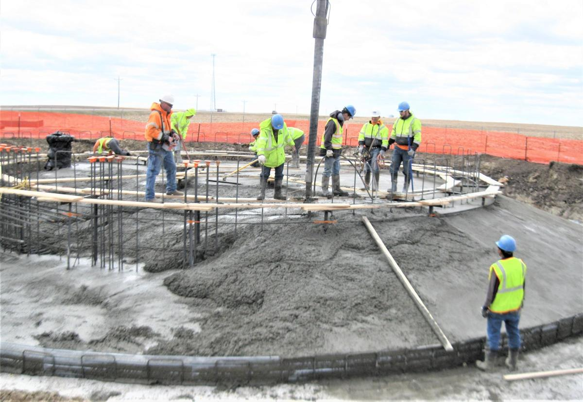 Cement poured for new water tower