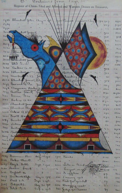 Art Journal Calendar Pages : Plains indian ledger art a new accounting on old pages