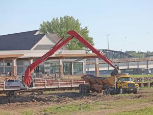 Photo: Midwest Construction scooping out marina