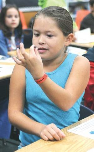 Third graders step back in time Tuesday