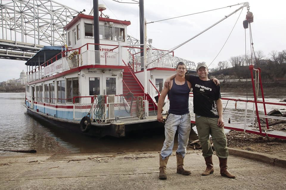 going up the missouri old school pierre man piloting paddle wheeler