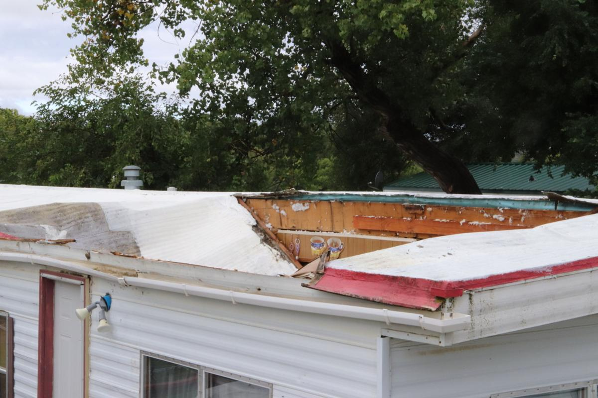 Collapsed roof traps family's father
