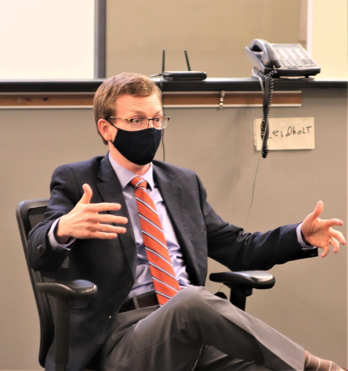 Sen. Johnson talks to Capital Journal staff 2