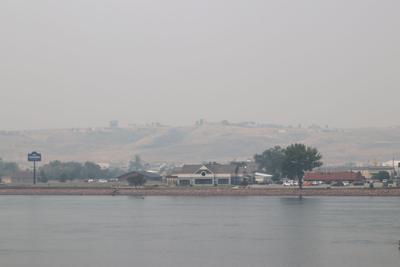 Ft. Pierre wildfire smoke