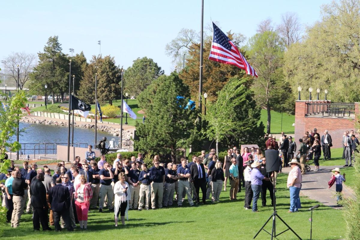 memorial service attendees