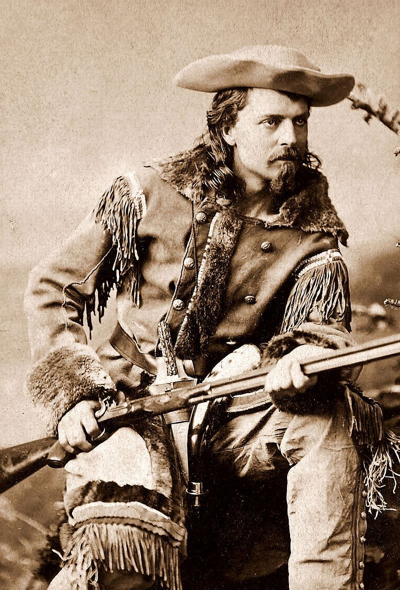 Buffalo Bill, nicknamed after his contract to supply Kansas Pacific Railroad workers with buffalo meat.jpg