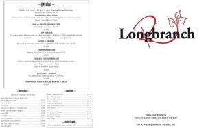 Longbranch menu 1