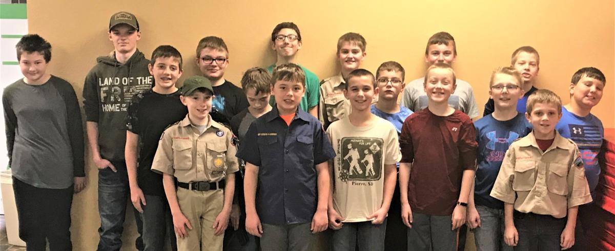 Boys Scouts advance, through their Klondike Derby #1