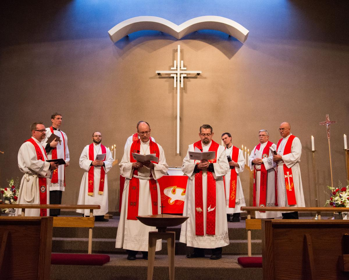 was installed on sunday as senior pastor at faith lutheran in pierre by the rev scott sailer left front president of the lutheran church missouri