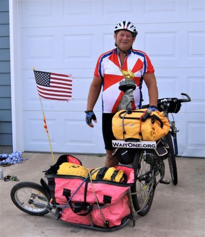 WaitOne director bicycles through South Dakota for hotline awareness