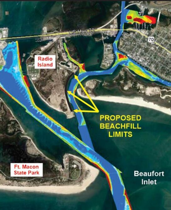 Carteret County secures DOD grant for east Taylor's Creek dredging, Radio Island nourishment