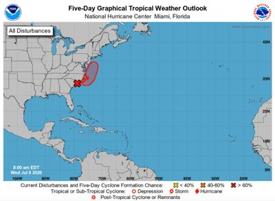 NWS forecasts high chance of cyclone formation