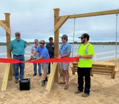 Officials open new waterfront neighborhood park, separate launch site in Cape Carteret