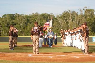 c3c7007a0467 A diamond salute to Armed Forces  Marlins rally past Military All-Stars 11-