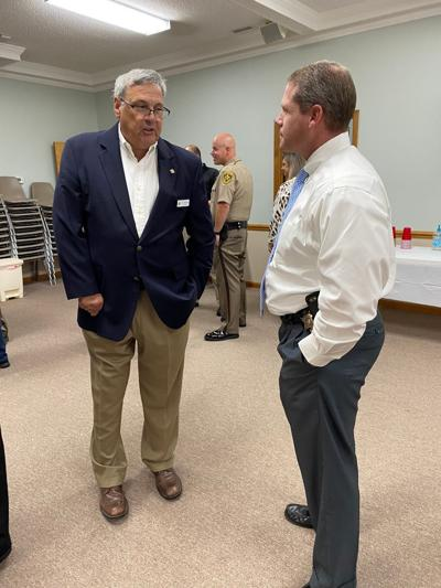 Residents mingle with Buck, deputies during first 'Coffee with the Sheriff' event in Cedar Point